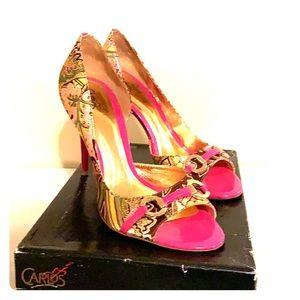 Carlos by Carlos Santana pink leopard heels